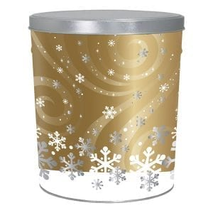 Swirling Snow Popcorn-filled with 20 cups each of caramel, white cheddar & movie theater