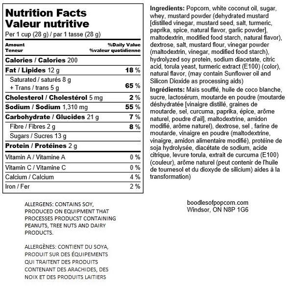 honey-mustard-nutritional
