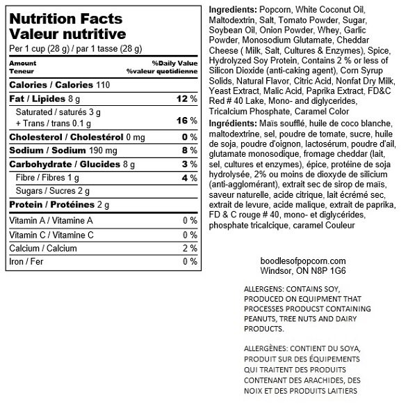 pizza-nutritional