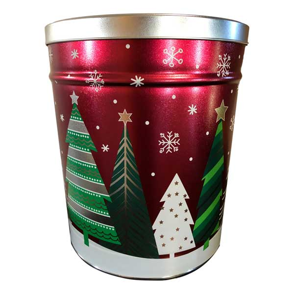 Holiday Trees Popcorn-filled with 20 cups each of caramel, white cheddar & movie theater