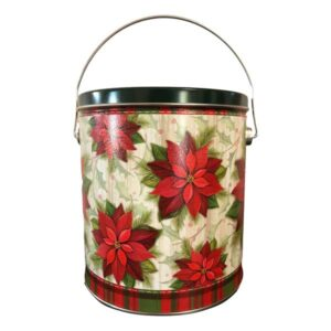 Poinsettia In Bloom Popcorn Pail-fill it with your favorite flavor!