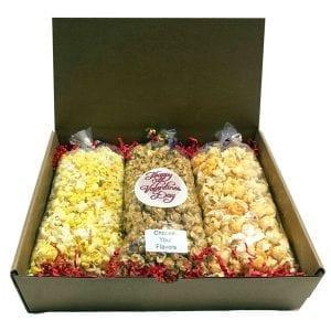 Valentine's Day Popcorn Trio