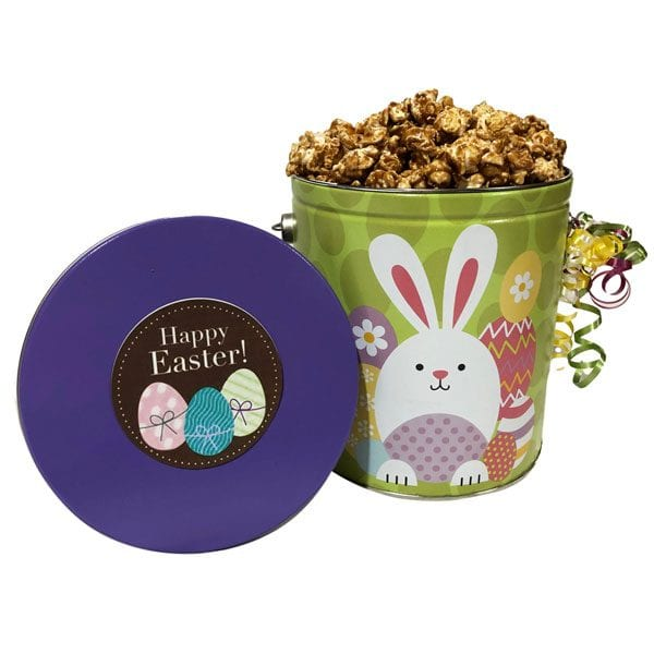 Easter Pail of Popcorn-filled with 14 cups of your choice of popcorn. Choose from over 35 flavors