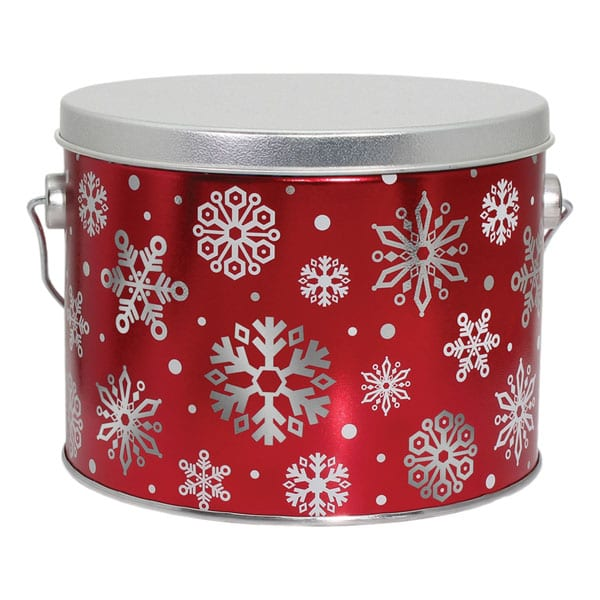 Snowflakes Popcorn Pail-filled with 10 cups of your favorite popcorn