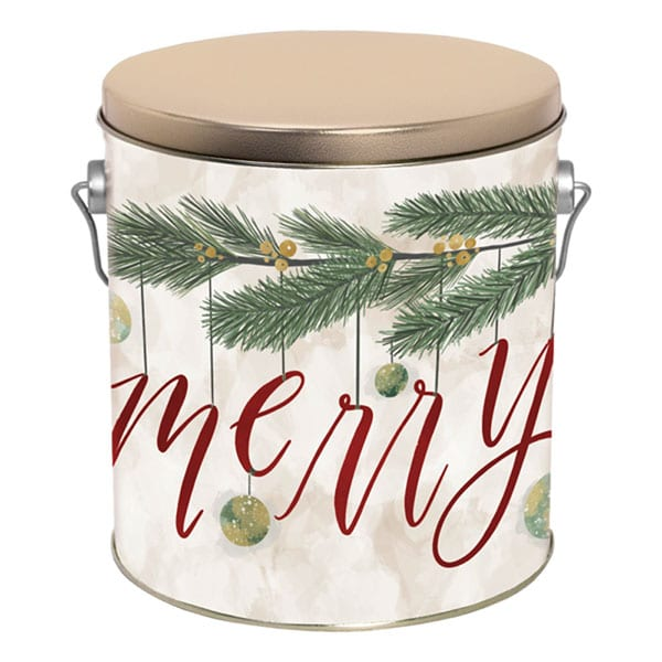 Very Merry Popcorn Pail-filled with 14 cups of your favorite popcorn